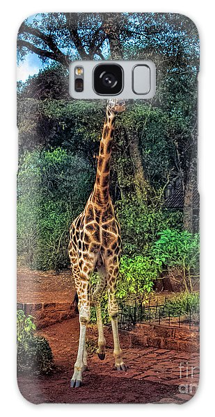 Welcome To Giraffe Manor Galaxy Case by Karen Lewis