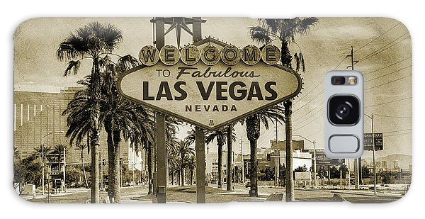 Neon Galaxy Case - Welcome To Las Vegas Series Sepia Grunge by Ricky Barnard