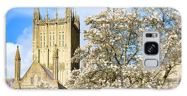 Wells Cathedral And Spring Blossom Galaxy Case