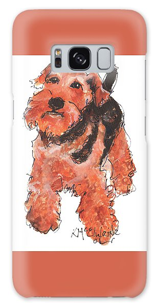 Welsh Terrier Or Schnauzer Watercolor Painting By Kmcelwaine Galaxy Case