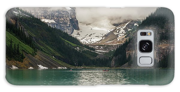 Moraine Lake Galaxy Case - West End Of Lake Louise by Mike Reid