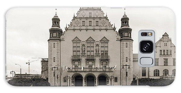 West Facade Of Adam Mickiewicz University Poznan Poland Galaxy Case