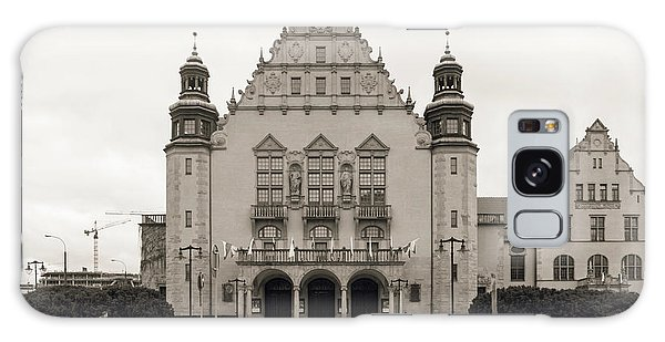 West Facade Of Adam Mickiewicz University Poznan Poland Galaxy Case