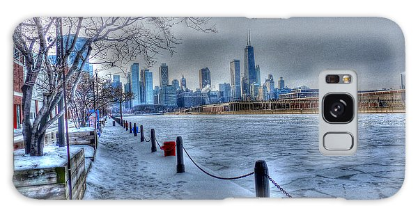 West From Navy Pier Galaxy Case