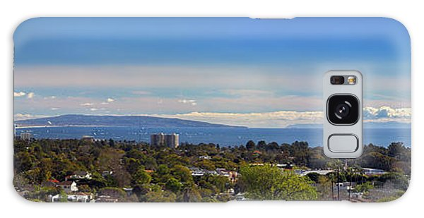 West La And Catalina Island From Pacific Palisades Galaxy Case