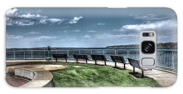 West Lake Okoboji Pier Galaxy Case