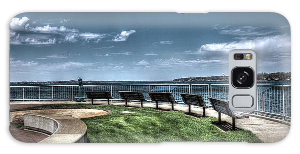 West Lake Okoboji Pier Galaxy Case