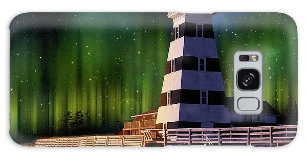 West Point Lighthouse Night Scene Galaxy Case