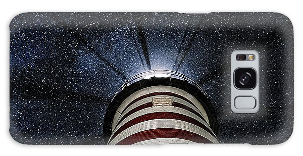 West Quoddy Head Lighthouse Night Light Galaxy Case by Marty Saccone