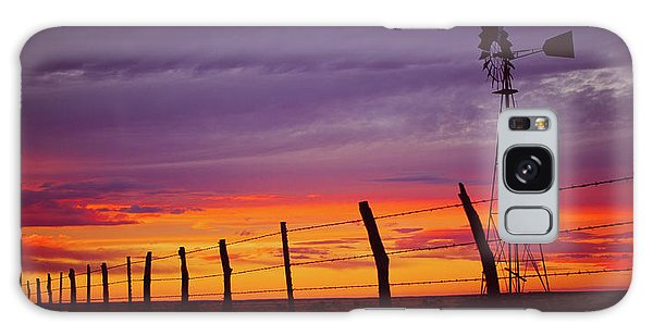 West Texas Sunset Galaxy Case