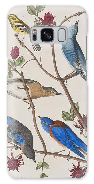 Bluebird Galaxy Case - Western Blue-bird by John James Audubon