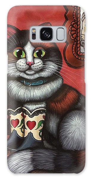 Calico Cat Galaxy Case - Western Boots Cat Painting by Victoria De Almeida