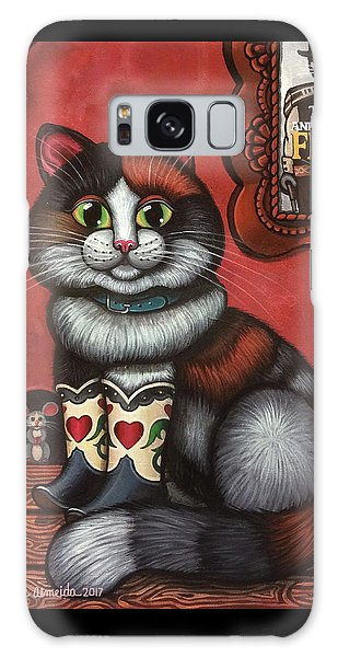 Western Boots Cat Painting Galaxy Case