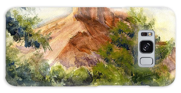 Western Landscape Watercolor Galaxy Case