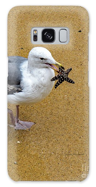 Western Seagull Carrying A Starfish Galaxy Case