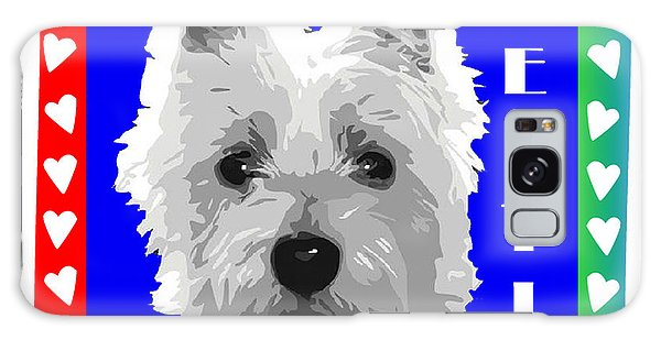 Westie Tshirt Galaxy Case