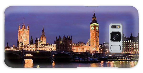Westminster At Sundown Galaxy Case