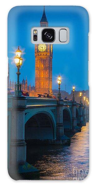 Westminster Bridge At Night Galaxy Case