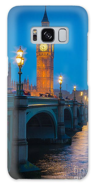 Westminster Bridge At Night Galaxy Case