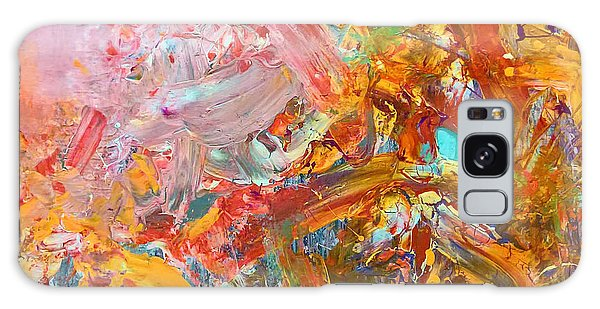 Wet Abstract #91517 Galaxy Case