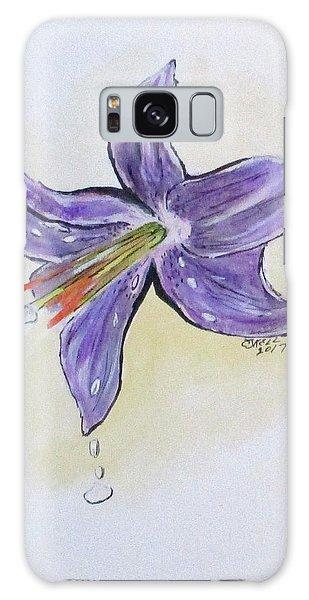 Wet Flower Galaxy Case