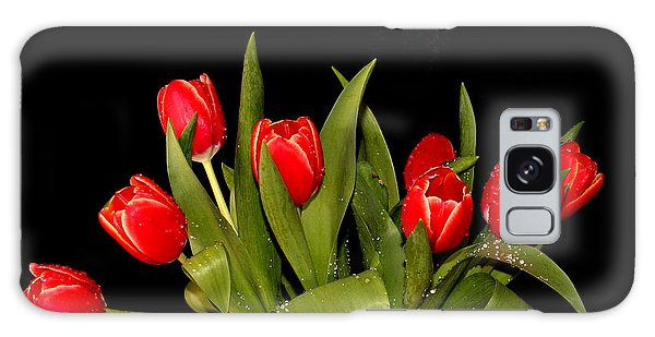 Wet Tulips Galaxy Case