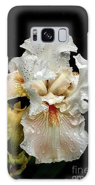 Wet White Iris Galaxy Case by Robert Bales