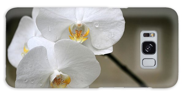 Wet White Orchids Galaxy Case