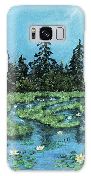 Galaxy Case featuring the painting Wetland - Algonquin Park by Anastasiya Malakhova