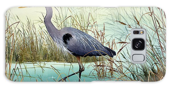 Herons Galaxy Case - Wetland Beauty by James Williamson