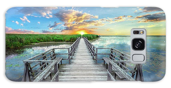 Wetland Marsh Sunrise Treasure Coast Florida Boardwalk A1 Galaxy Case