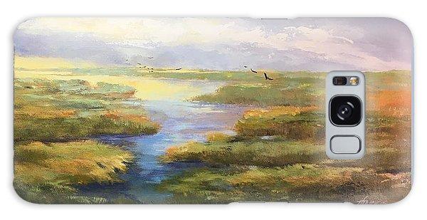 Wetlands Galaxy Case by Helen Harris