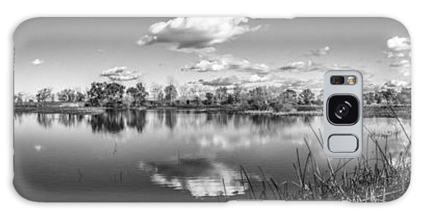 Wetlands Panorama Monochrome Galaxy Case