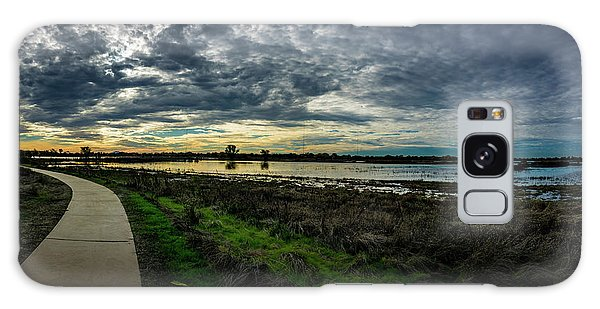 Wetlands Sunset Panorama Galaxy Case