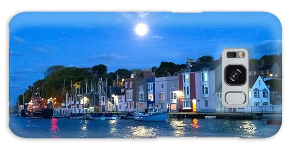 Weymouth Harbour, Full Moon Galaxy Case