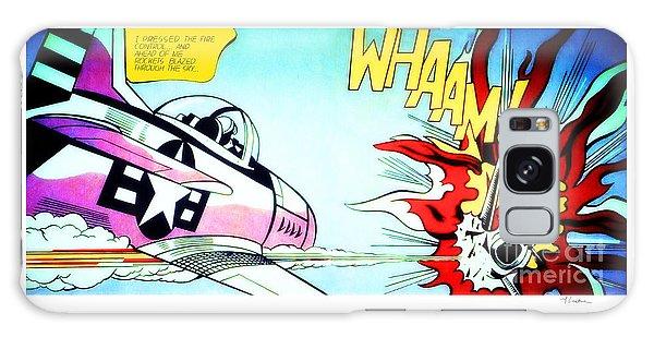 Whaam Galaxy Case by Roy Lichtenstein