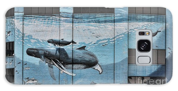 Whale Deco Building  Galaxy Case by Chuck Kuhn