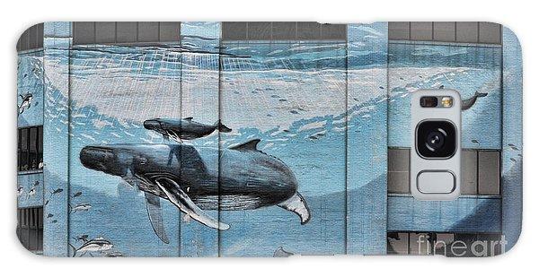 Whale Deco Building  Galaxy Case