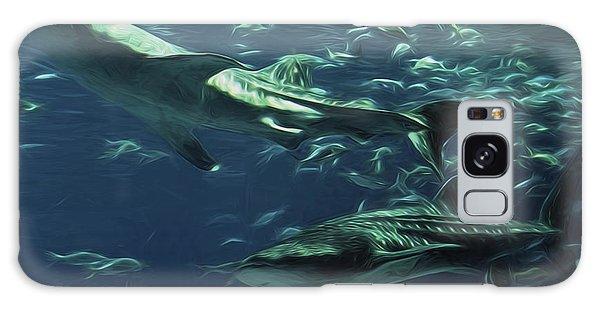 Whale Shark Couple Galaxy Case