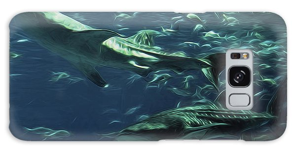 Whale Shark Couple Galaxy Case