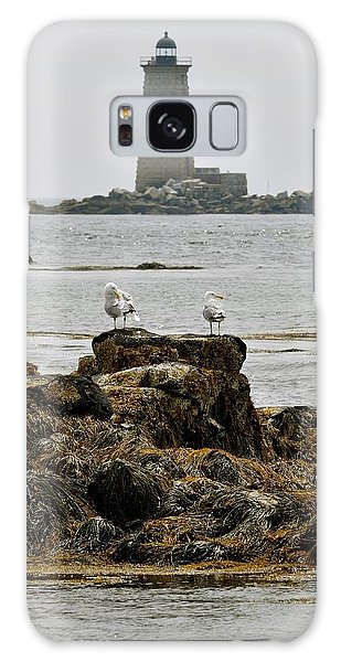 Whaleback Lighhouse From Fort Constitution Galaxy Case