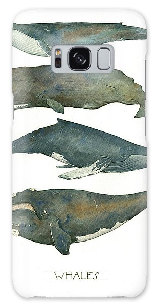 Whales Poster Galaxy Case