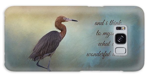 Egret Galaxy Case - What A Wonderful World by Kim Hojnacki