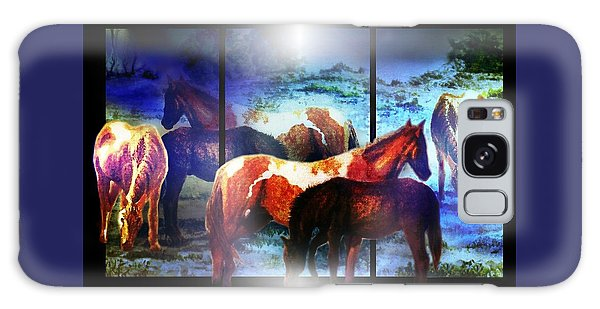 What  Horses Dream Galaxy Case by Hartmut Jager