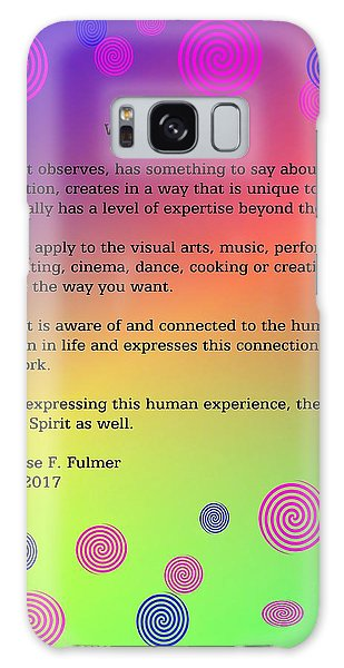Galaxy Case featuring the digital art What Is An Artist? by Denise Fulmer