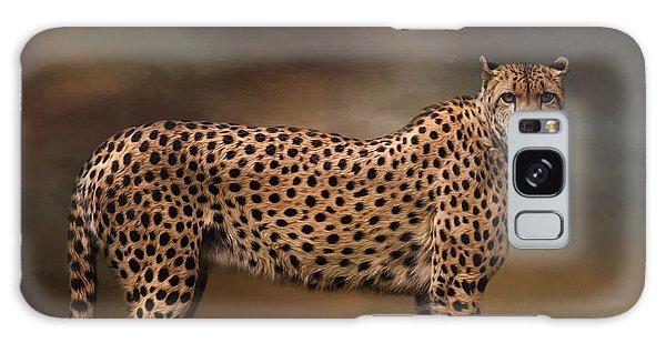 What You Imagine - Cheetah Art Galaxy Case by Jordan Blackstone