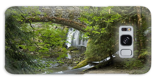 Whatcom Falls Bridge Galaxy Case