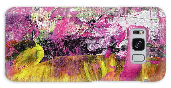 Whatever Makes You Happy - Large Pink And Yellow Abstract Painting Galaxy Case