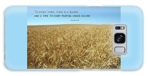 Wheat Field Harvest Season Galaxy Case