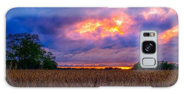 Wheat Field Sunset Galaxy Case